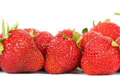 Strawberry. Ripe delicious red strawberry closeup Stock Photos