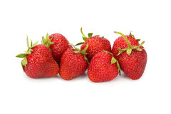 Strawberry. Ripe strawberry on white background royalty free stock photos