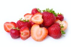 Strawberry. The cut strawberry on a white background Stock Image