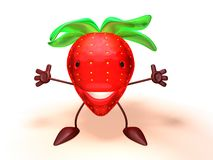 Strawberry. 3D toon strawberry Stock Photography