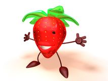 Strawberry. 3D toon strawberry Royalty Free Stock Photo