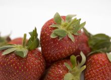 Strawberry. On a white background Stock Images