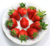 A strawberry. Strawberry is a nutrient rich fruits, Zhuji, Zhejiang Province in China, a wide range of cultivation, is an ideal food entertain guests Stock Photo