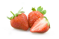 A strawberry. Fresh strawberry on a white background Stock Photography