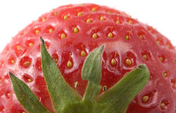 Strawberry. Close view of a strawberry, from the top, shallow depth of field Royalty Free Stock Photos