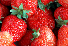 Strawberry. Fresh strawberry in fruit store, it can be used as illustration for agriculture book or as advertising picture Royalty Free Stock Images