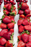 Strawberry. And cherry still life Royalty Free Stock Photos