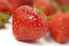 Strawberry. Fresh organic English strawberry, closeup Stock Photo