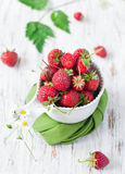 Strawberry. Against an old board Stock Photography