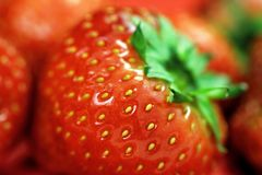 Strawberry. Close up of a strawberry Royalty Free Stock Images