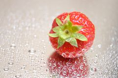 Strawberry. With droplets Stock Images