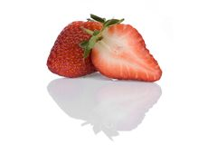 Strawberry. Isolated on a white background Royalty Free Stock Images
