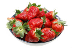 Strawberry. Fresh strawberry in a bowl.(on white Stock Photography