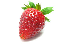 Strawberry. Isolated on white background with shadow royalty free stock photo