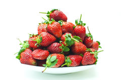 Strawberry. In a container with a white background Royalty Free Stock Photography
