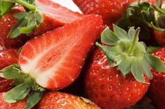 Strawberry. Close-up viev of fresh strawberry Royalty Free Stock Photo