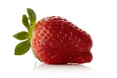 Strawberry. Fresh strawberry isolated over white background Royalty Free Stock Images