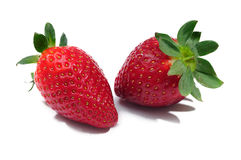 Strawberry. Strawberries in the foreground on a white background stock photography