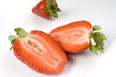 Strawberry. Close-up on neutral background Royalty Free Stock Image