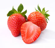 Strawberry. Fresh strawberry on a white background Royalty Free Stock Photography