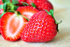 Strawberry. Sweet strawberries on a spring chill day Stock Photography
