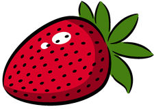 Strawberry. Illustration of a strawberry logo or label stock illustration