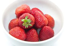 Strawberry. This is a picture of a dessert of strawberries Royalty Free Stock Image