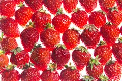 Strawberry. This is the photo was taken a lot of strawberry spread Stock Image