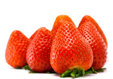 Strawberry. Handful of strawberry isolated on a white background Royalty Free Stock Photography