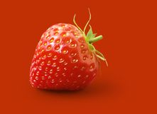 Strawberry. In a red environment Stock Photos
