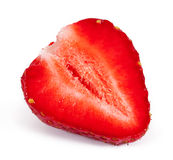 Strawberry. Cut strawberry isolated on white background Royalty Free Stock Photos