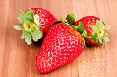 Strawberry. Over wooden background Stock Images