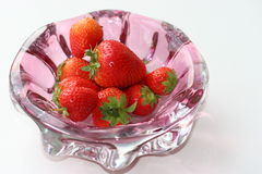 Strawberry 3. Strawberry in a vase Stock Image