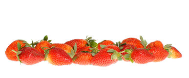 Strawberry. Isolated on white background Stock Photos