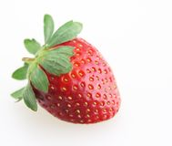 Strawberry. Fresh strawberry and leaf stem for desert stock photography