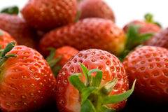 Strawberry. Fruit, Eating, Food, Dessert Stock Photography