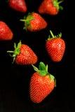 Strawberry. Fresh Strawberry on black background Royalty Free Stock Photos