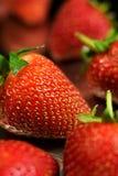 Strawberry. Fresh Strawberry on black background Royalty Free Stock Images