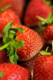 Strawberry. Fresh Strawberry on black background Royalty Free Stock Photo