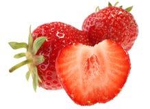Strawberry. Fresh fruit isolated on white background stock photo