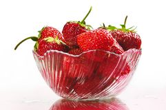 Strawberry. In plate on white background Stock Images