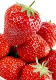 Strawberry. Fresh fruit isolated on white background stock photos