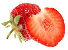 Strawberry. Fresh fruit isolated on white background stock images