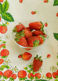 Strawberry. On a plate Royalty Free Stock Photography
