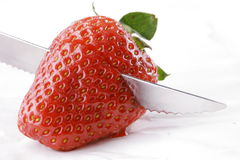 Strawberry. Cutting strawberry Royalty Free Stock Photography
