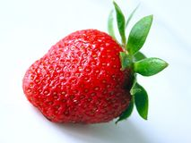Strawberry. Isolated strawberry Royalty Free Stock Images