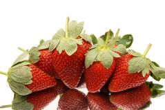 Strawberry. A collection of strawberry with mirror reflection Royalty Free Stock Photo
