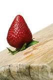 Strawberry. On a wood board Royalty Free Stock Image