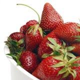 Strawberry. Strawberries on white Stock Photos