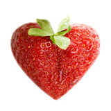 Strawberry. Fresh strawberry illustrated as a heart Royalty Free Stock Photography